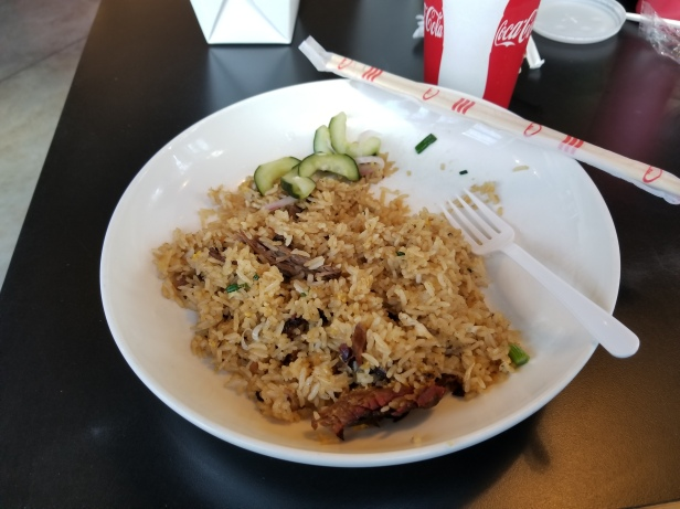 Smoked Brisket with fried rice