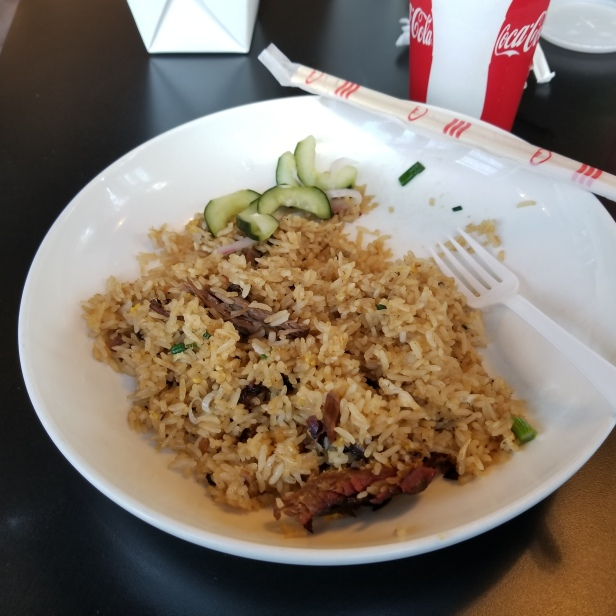 Smoked Brisket with fried rice
